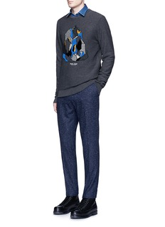 Scotch & Soda 'Stuart' slim fit slub wool blend pants