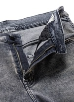 'Skate' bleach stain frayed jeans