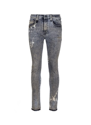 Main View - Click To Enlarge - R13 - 'Skate' bleach stain frayed jeans