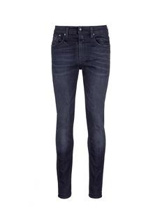 R13'Skate' distressed slim fit jeans