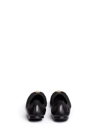 Tory Burch-'Jolie' patent toe cap leather ballerina flats