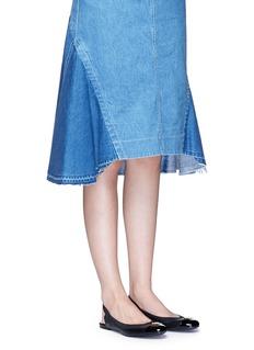 Tory Burch'Jolie' patent toe cap slingback ballerina flats