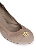 'Jolie' patent toe cap leather ballerina flats