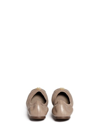 Back View - Click To Enlarge - Tory Burch - 'Jolie' patent toe cap leather ballerina flats
