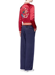 Elizabeth and James'Willa' reversible swallow floral embroidered bomber jacket