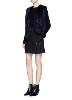 Elizabeth and James 'Reid' rabbit fur wrap gilet