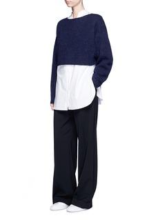 Elizabeth and James'Vann' wool-alpaca cropped sweater