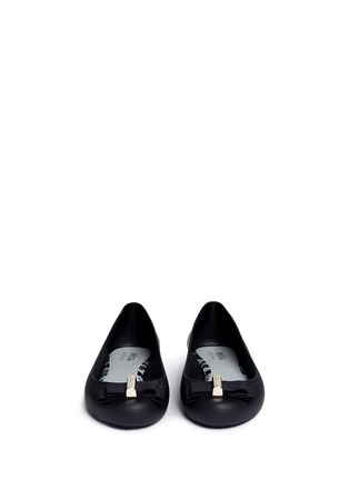 Front View - Click To Enlarge - Melissa - x Jason Wu 'Space Love II' bow PVC flats
