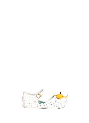 Main View - Click To Enlarge - Melissa - 'Furadinha IX' banana appliqué toddler Mary Jane flats