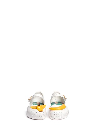 Figure View - Click To Enlarge - Melissa - 'Furadinha IX' banana appliqué toddler Mary Jane flats