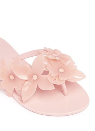 Detail View - Click To Enlarge - Melissa - 'Harmonic Garden VI' floral appliqué flip flops