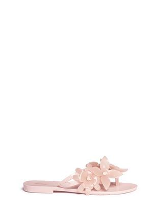 Main View - Click To Enlarge - Melissa - 'Harmonic Garden VI' floral appliqué flip flops