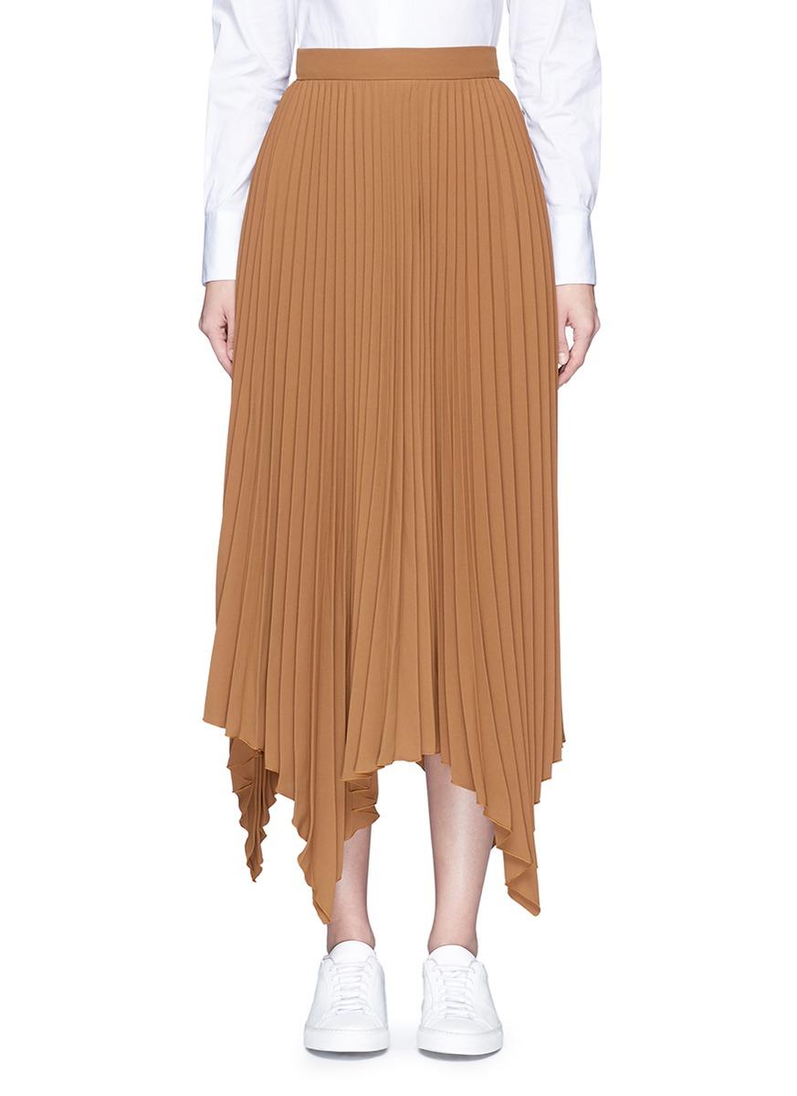 Handkerchief hem pleated maxi skirt by Comme Moi