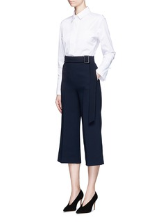 Comme Moi Belted crepe culottes