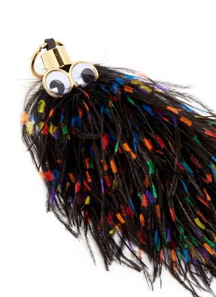 Detail View - Click To Enlarge - Sophie Hulme - 'George' ethical Turkey feather keyring