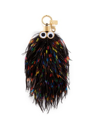 Main View - Click To Enlarge - Sophie Hulme - 'George' ethical Turkey feather keyring