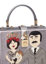 'Dolce Box' DG Family appliqué metallic leather bag