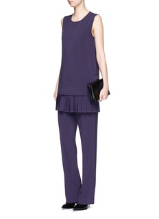 Victor Alfaro Pleated crepe sleeveless top