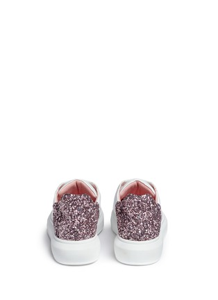 Pedder Red - 'Lory' metallic glitter heel leather sneakers