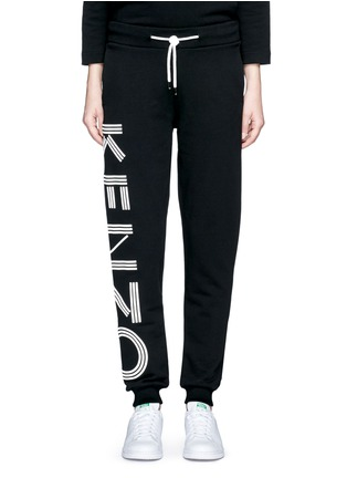 Main View - Click To Enlarge - KENZO - Logo print cotton sweatpants
