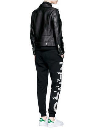 Figure View - Click To Enlarge - KENZO - Logo print cotton sweatpants