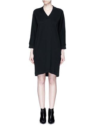 Main View - Click To Enlarge - KENZO - Logo print sweatshirt dress