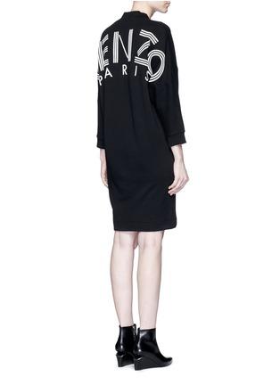 Figure View - Click To Enlarge - KENZO - Logo print sweatshirt dress