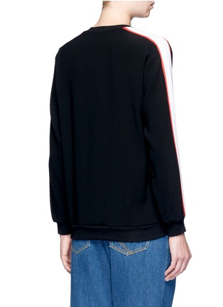 Back View - Click To Enlarge - KENZO - Tiger embroidered stripe sweatshirt