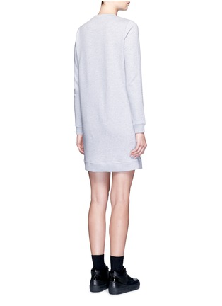 Back View - Click To Enlarge - KENZO - Eye embroidered cotton sweatshirt dress