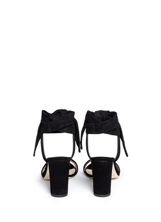 Back View - Click To Enlarge - Jimmy Choo - 'Kora' ankle tie pleat suede pumps