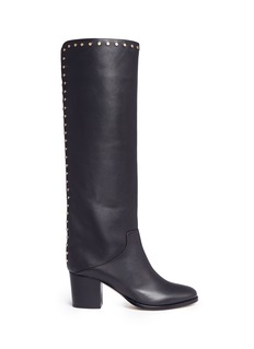 Jimmy Choo 'Monroe 65' stud leather knee high boots