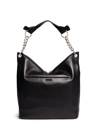 Back View - Click To Enlarge - Jimmy Choo - 'Raven' large leather shoulder bag