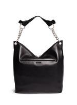 'Raven' large leather shoulder bag