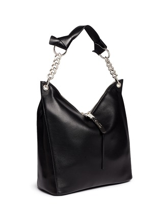 Front View - Click To Enlarge - Jimmy Choo - 'Raven' large leather shoulder bag