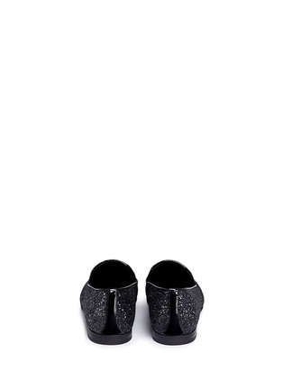 Back View - Click To Enlarge - Jimmy Choo - 'Sloane' coarse glitter slip-ons