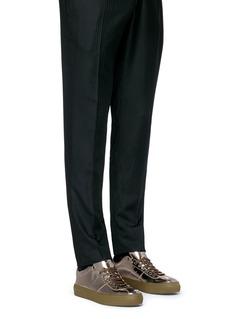 Jimmy Choo'Portman' mirror leather sneakers