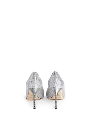 Back View - Click To Enlarge - Jimmy Choo - 'Romy' stingray embossed heel glitter pumps