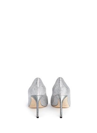 Jimmy Choo-'Romy' stingray embossed heel glitter pumps