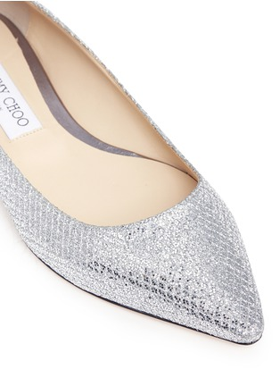 Detail View - Click To Enlarge - Jimmy Choo - 'Romy' glitter flats