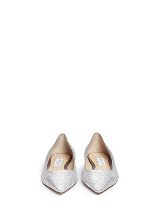 Front View - Click To Enlarge - Jimmy Choo - 'Romy' glitter flats
