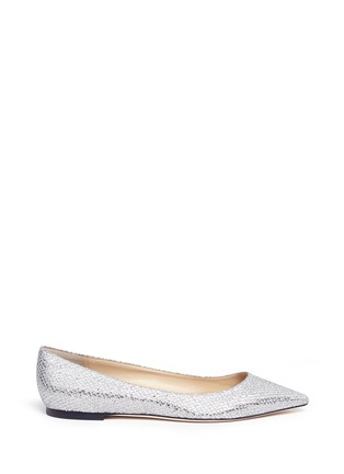 Main View - Click To Enlarge - Jimmy Choo - 'Romy' glitter flats