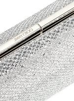 'Cate' bar clasp glitter mesh clutch