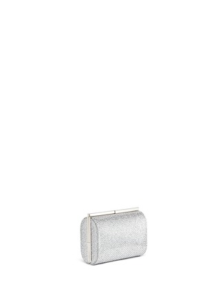 Front View - Click To Enlarge - Jimmy Choo - 'Cate' bar clasp glitter mesh clutch