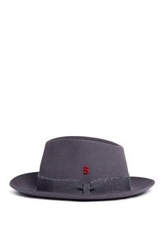 My Bob'Tribeca' mohair ribbon band rabbit furfelt hat