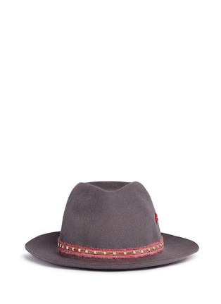 Main View - Click To Enlarge - My Bob - 'Tribeca Light' metal chain band furfelt hat