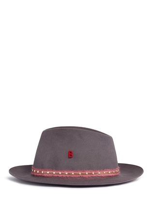 Figure View - Click To Enlarge - My Bob - 'Tribeca Light' metal chain band furfelt hat