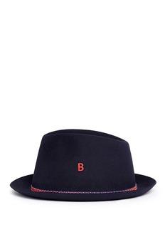 My Bob'Carl' zigzag stripe band furfelt hat