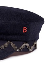 'Steward' beaded stripe band felt schoolboy cap