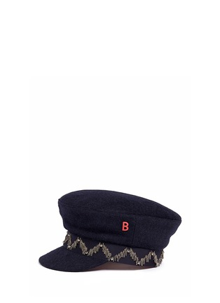 Figure View - Click To Enlarge - My Bob - 'Steward' beaded stripe band felt schoolboy cap