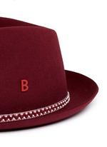 'Carl' zigzag stripe band furfelt hat